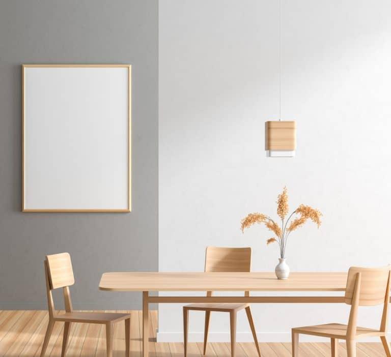 dining room lighting too small