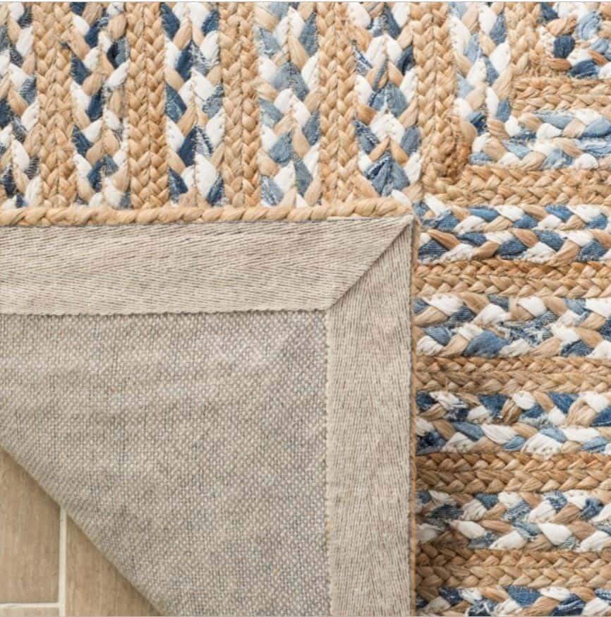 Natural fiber living room rug