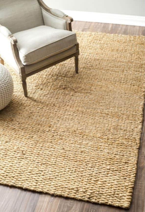 Jute living room area rug
