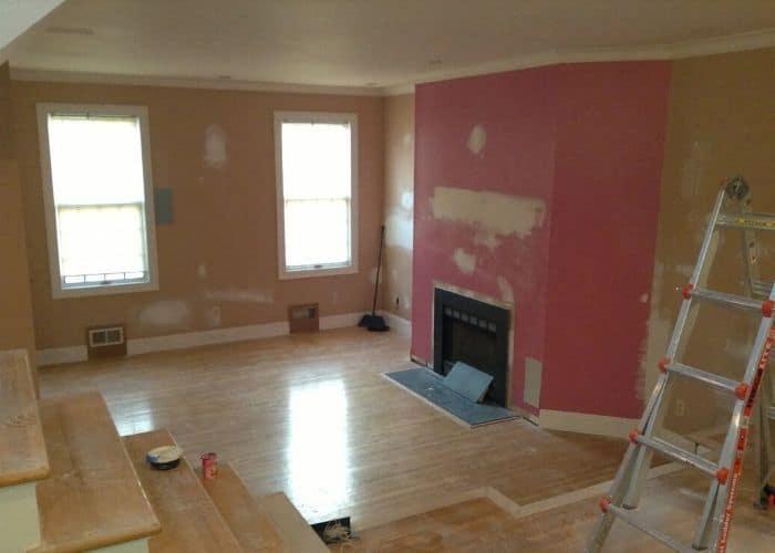 Trim work home improvement project