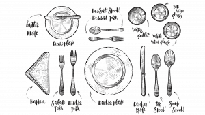 Table setting diagram