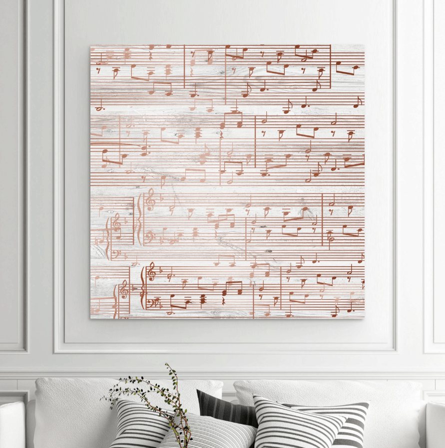Custom song to decorate a large wall