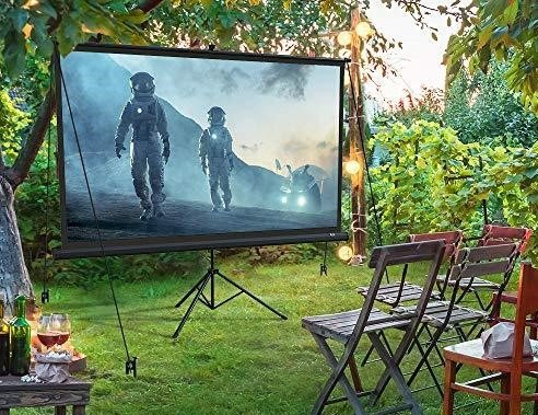 Outside Movie theater for a staycation