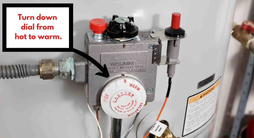 Cut household expenses by turning down your hot water heater